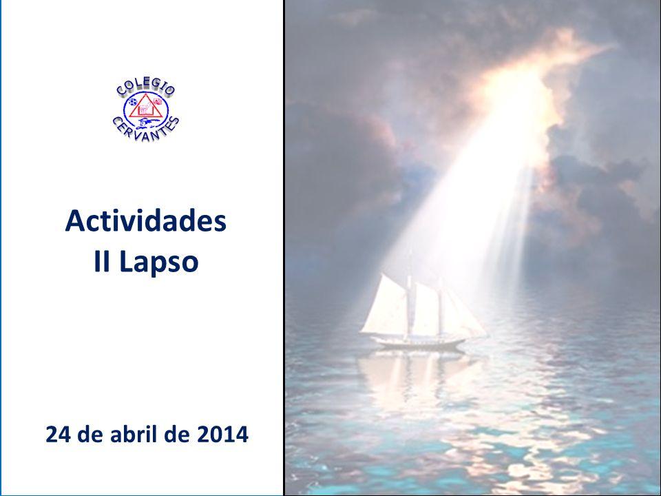 Actividades II Lapso 24 de abril de 2014