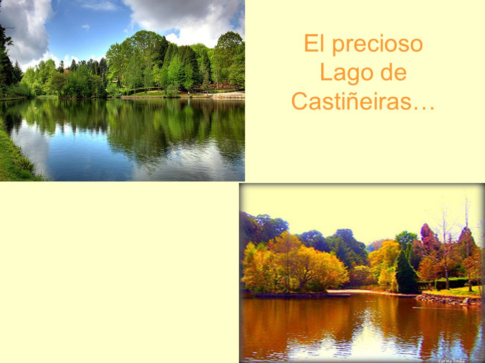 El precioso Lago de Castiñeiras…