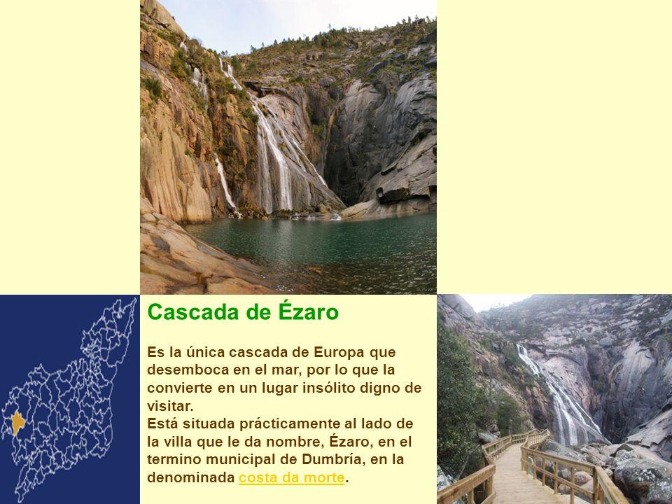 Cascada de Ézaro Es la única cascada de Europa que desemboca en el mar, por lo que la convierte en un lugar insólito digno de visitar.