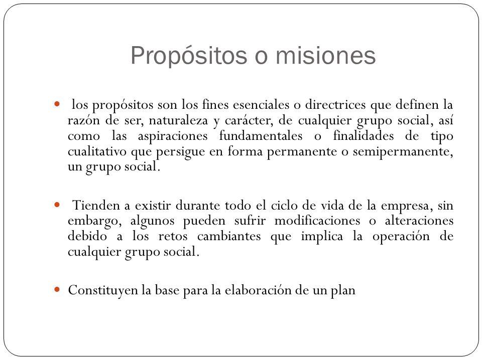 Propósitos o misiones