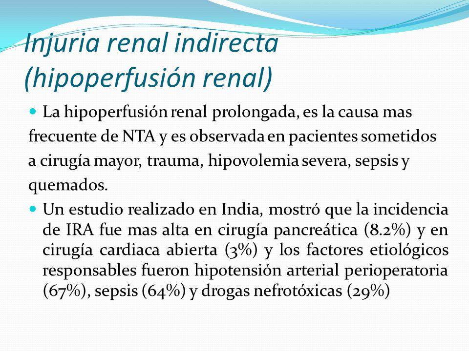 Injuria renal indirecta (hipoperfusión renal)