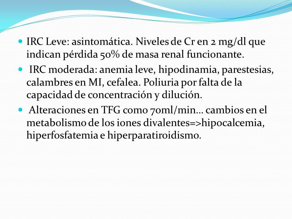 IRC Leve: asintomática