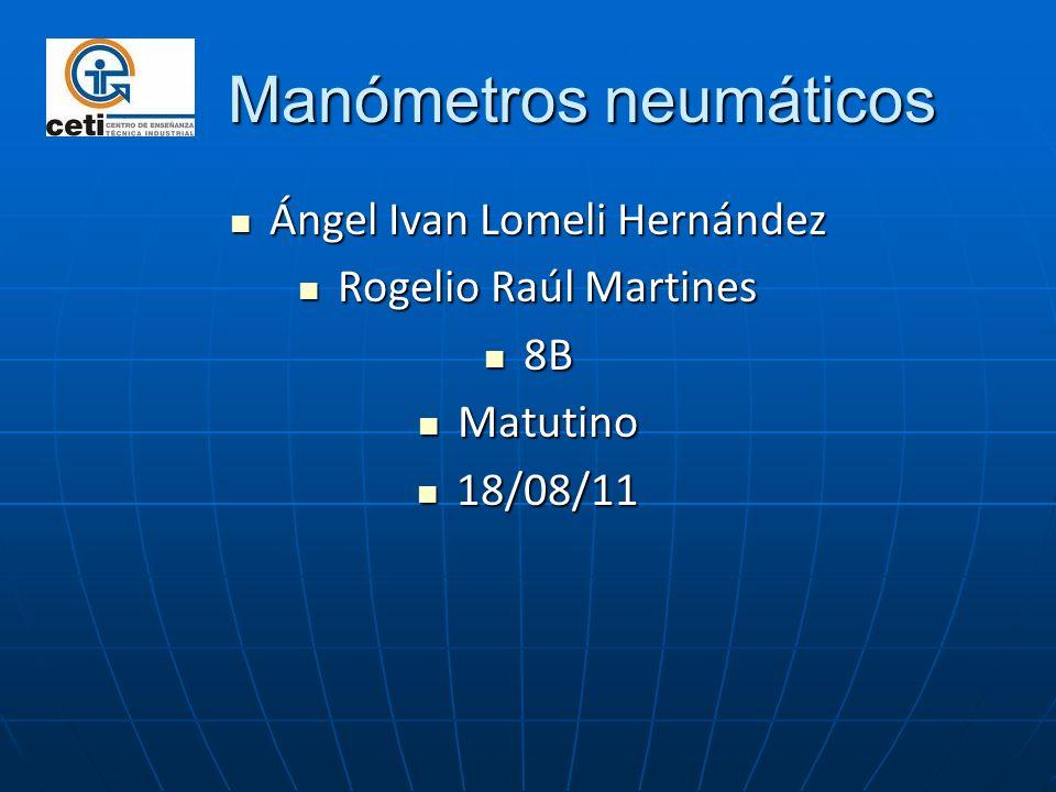Manómetros neumáticos