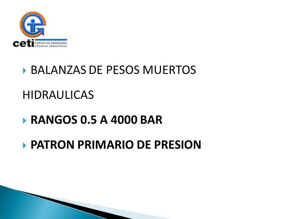 BALANZAS DE PESOS MUERTOS