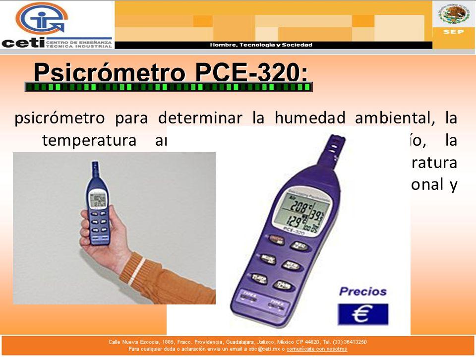 Psicrómetro PCE-320: