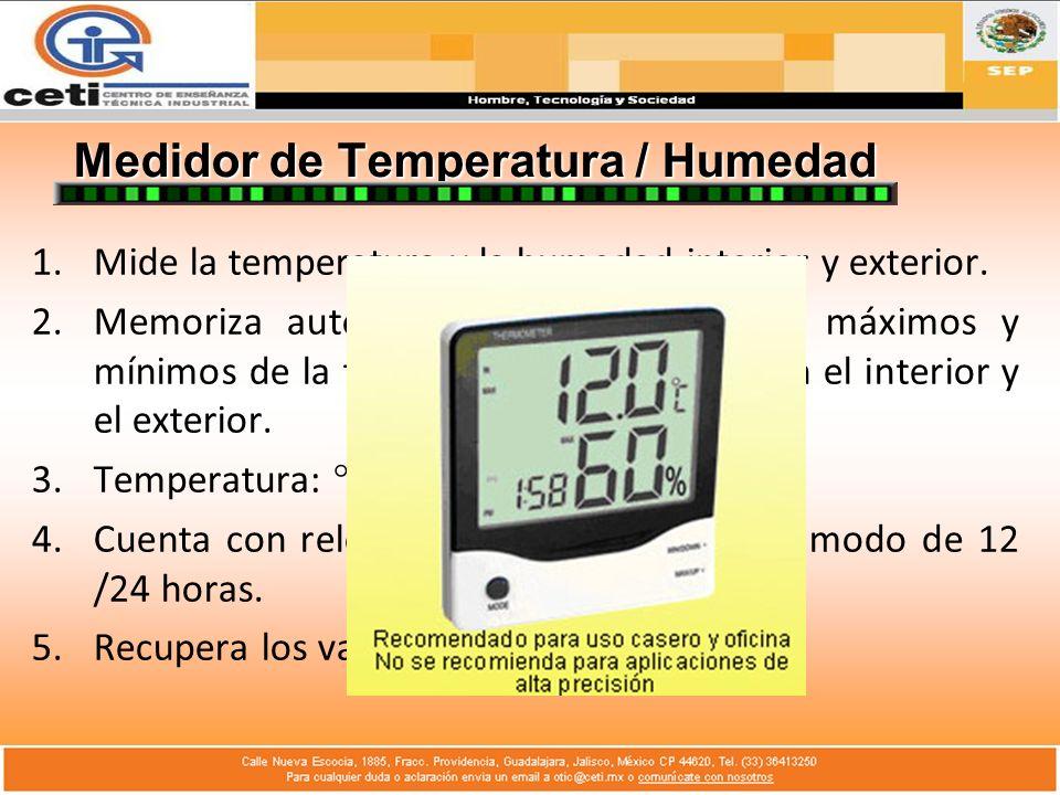 Medidor de Temperatura / Humedad