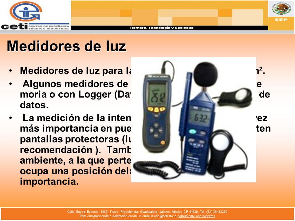 Medidores de luz Medidores de luz para la medición en lux, fc o cd/m².