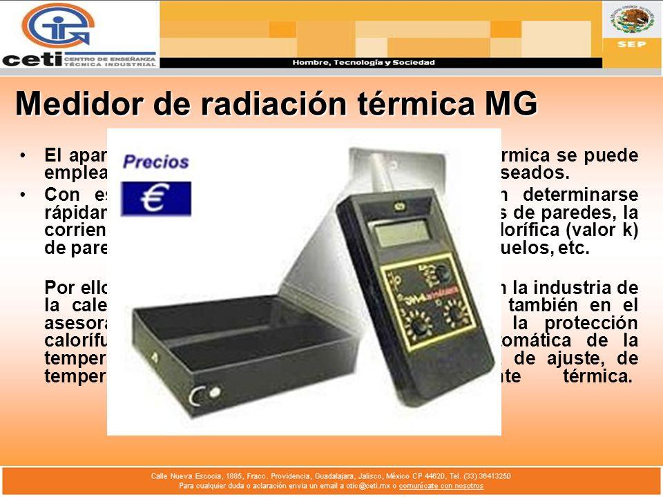 Medidor de radiación térmica MG