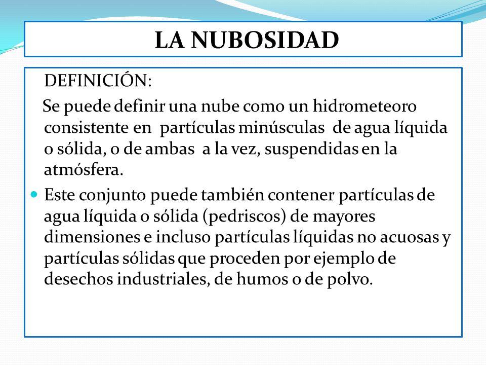 LA NUBOSIDAD DEFINICIÓN: