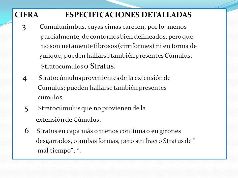CIFRA ESPECIFICACIONES DETALLADAS