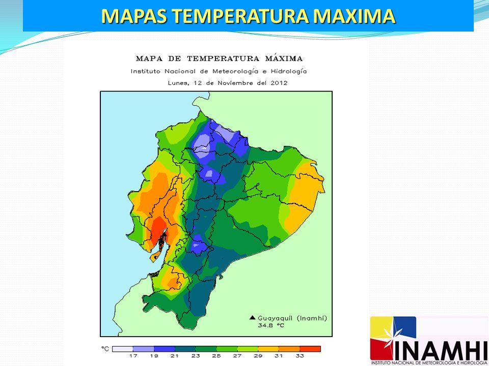 MAPAS TEMPERATURA MAXIMA