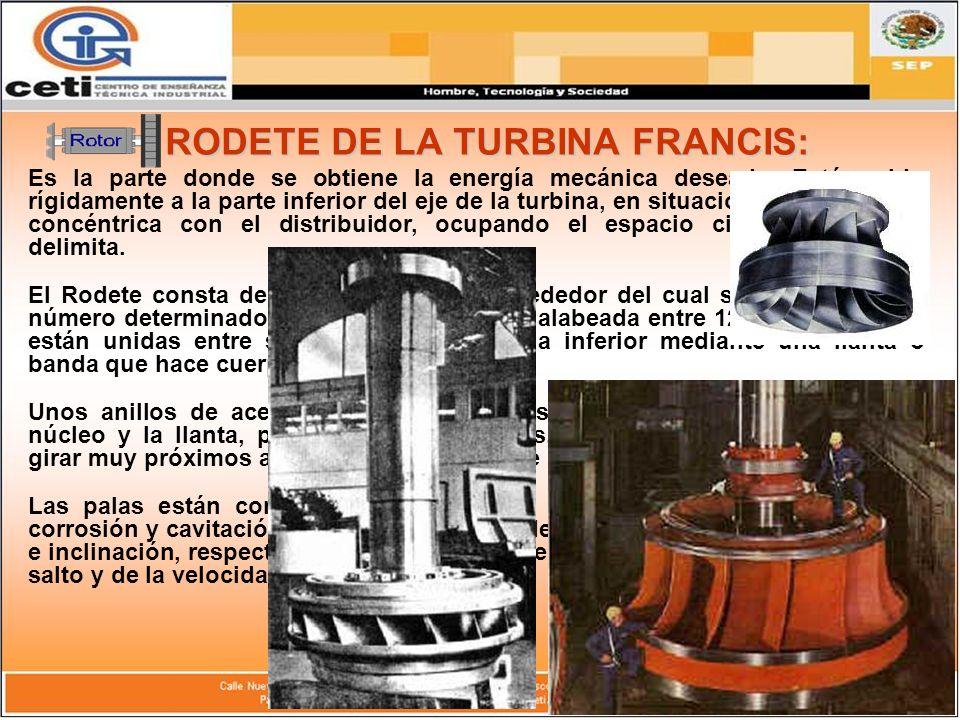 RODETE DE LA TURBINA FRANCIS: