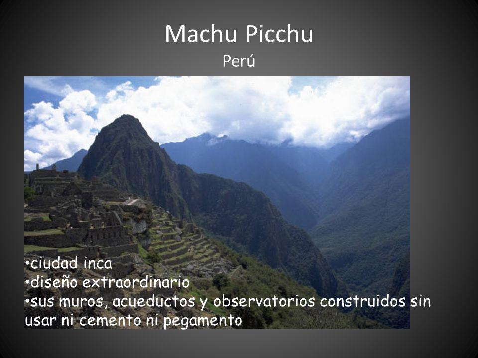 Machu Picchu Perú ciudad inca diseño extraordinario