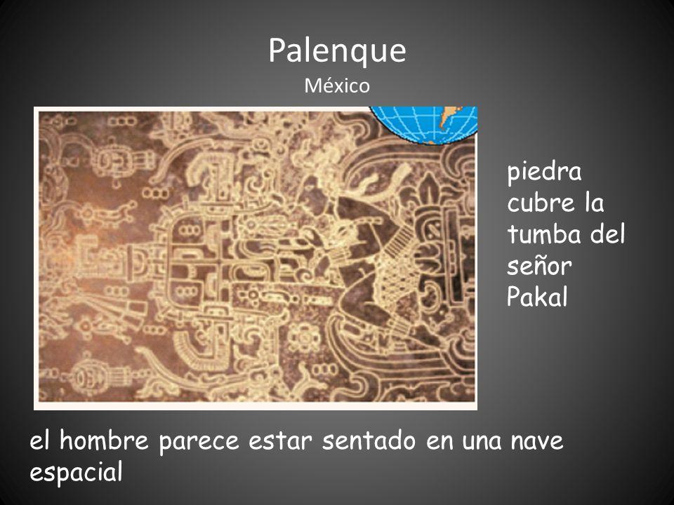 Palenque México piedra cubre la tumba del señor Pakal