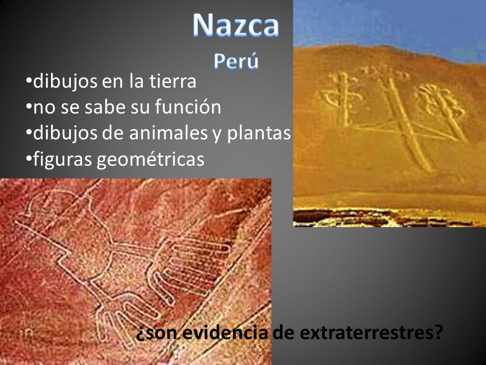 Nazca Perú dibujos en la tierra no se sabe su función