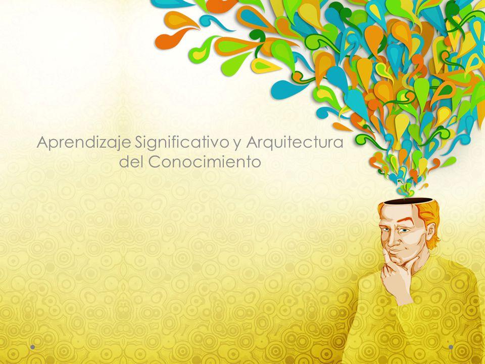 Aprendizaje Significativo y Arquitectura del Conocimiento