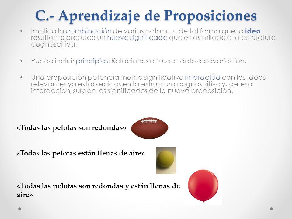 C.- Aprendizaje de Proposiciones