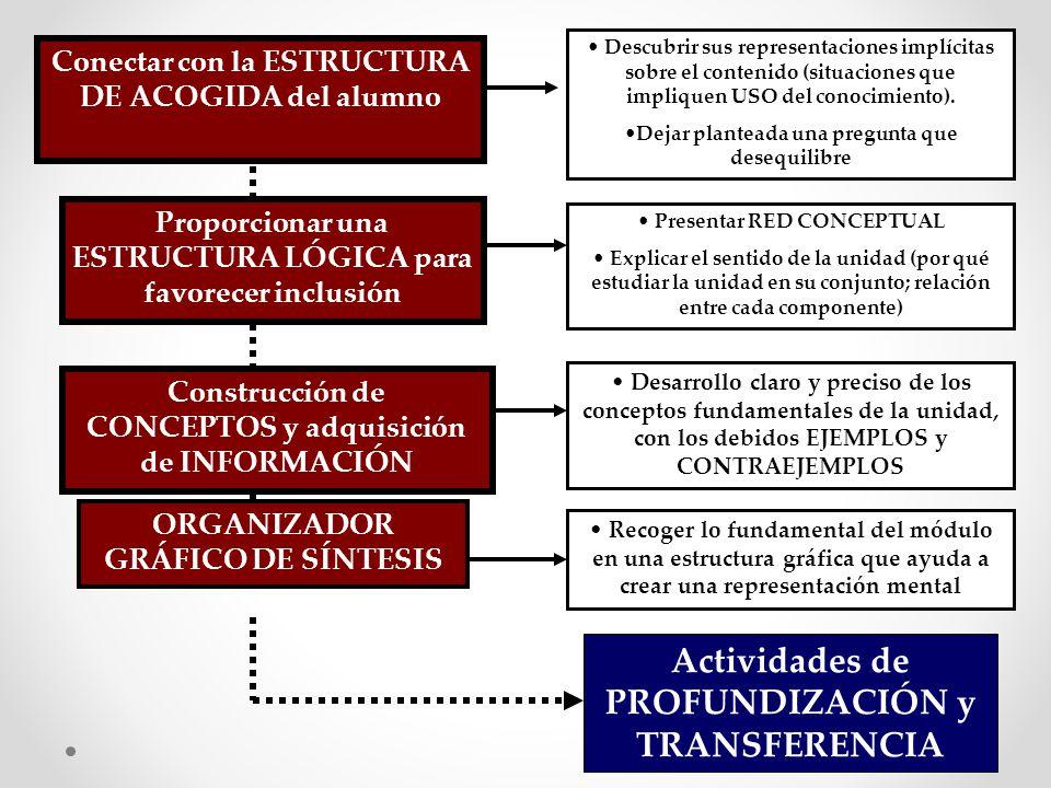 Actividades de PROFUNDIZACIÓN y TRANSFERENCIA