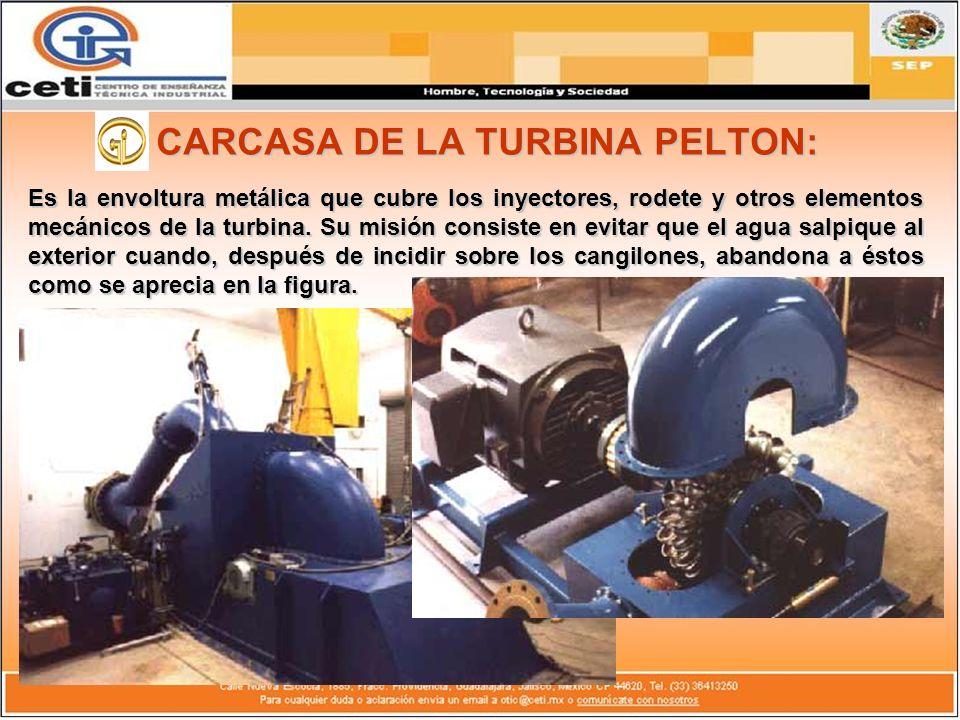 CARCASA DE LA TURBINA PELTON: