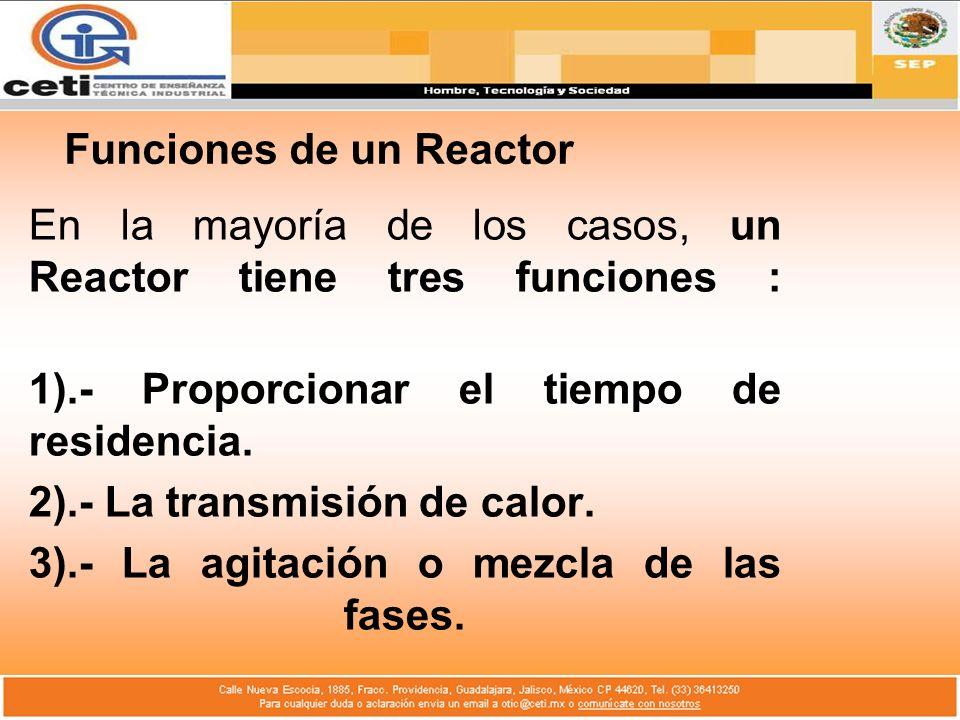 Funciones de un Reactor