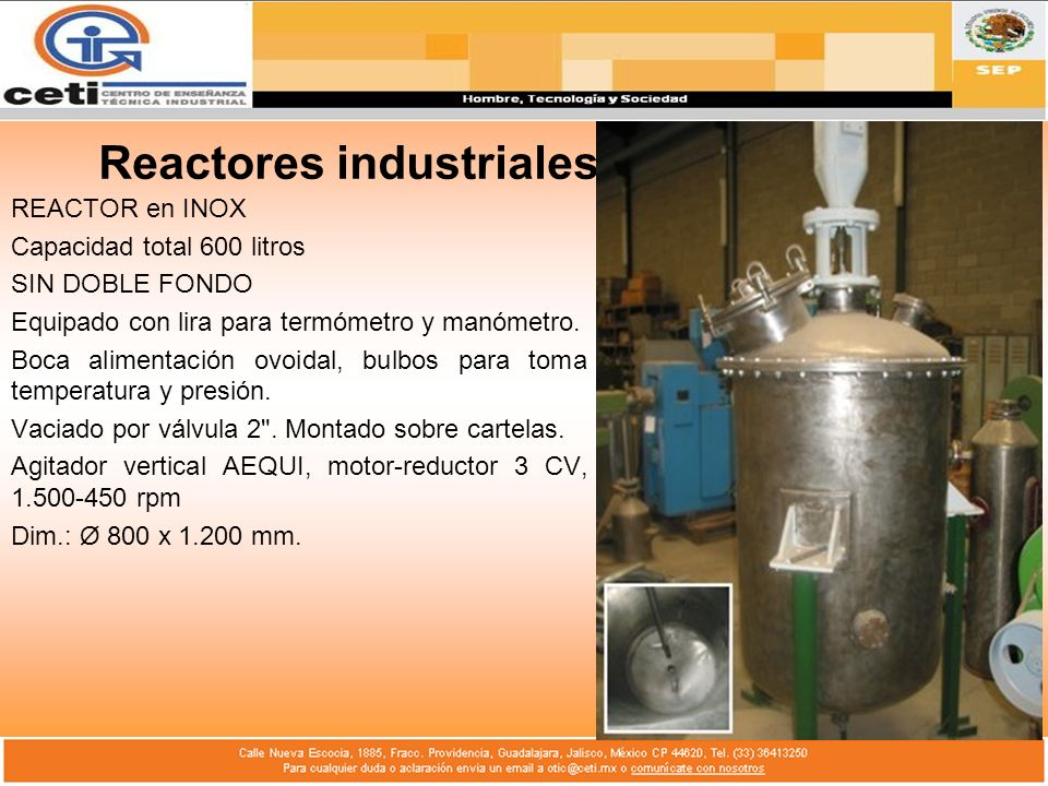 Reactores industriales