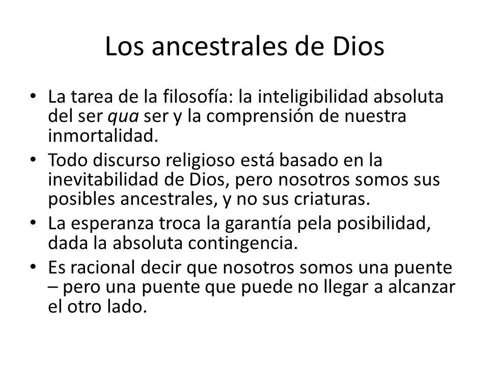 Los ancestrales de Dios