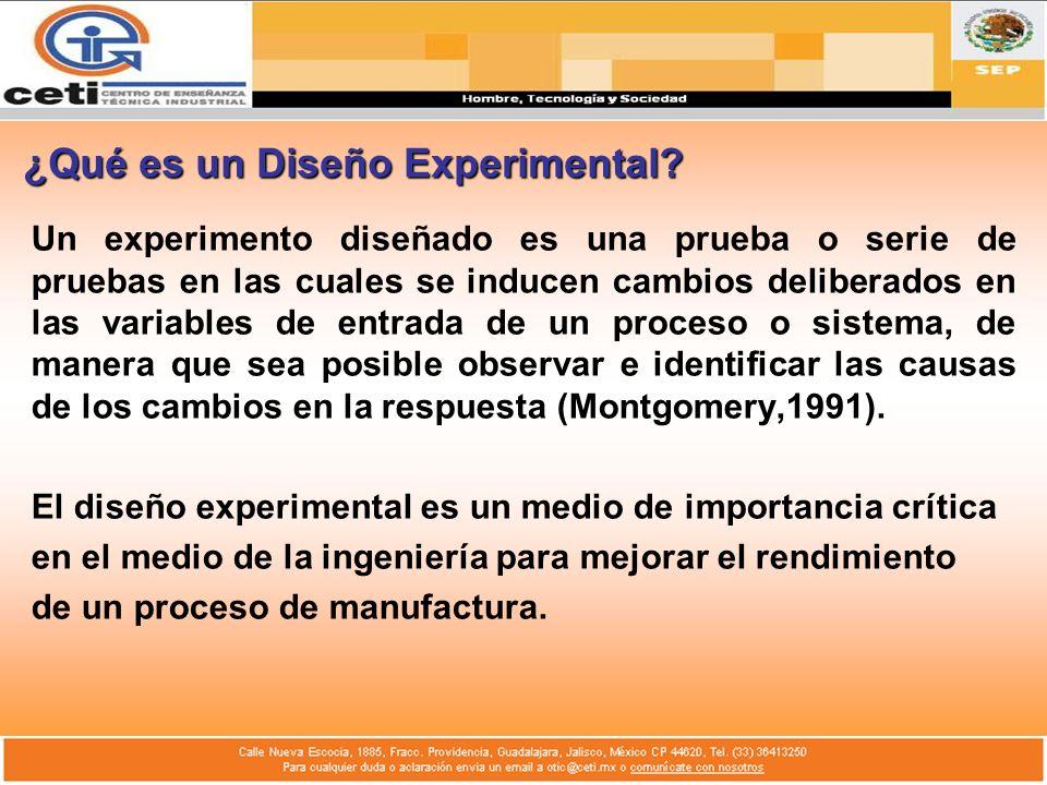 ¿Qué es un Diseño Experimental