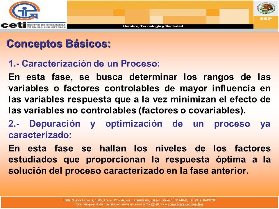 Conceptos Básicos: 1.- Caracterización de un Proceso: