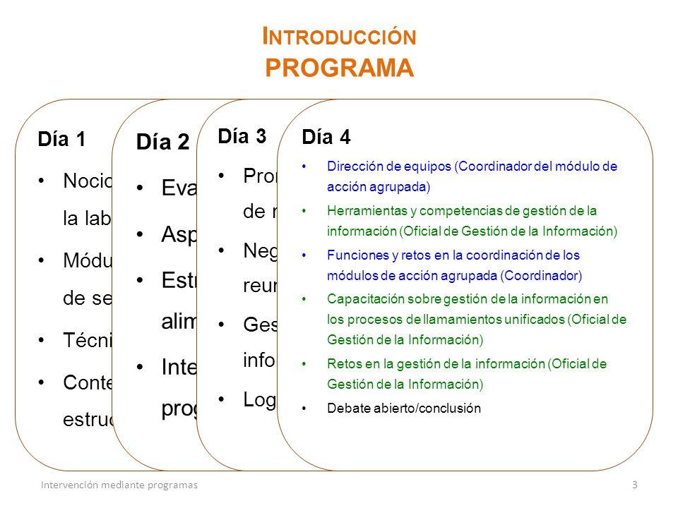 programa Introducción Día 2 Evaluación y análisis
