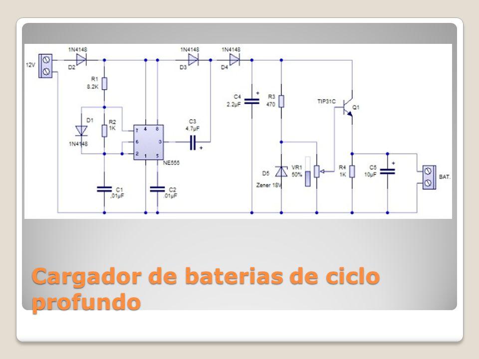Cargador de baterias de ciclo profundo