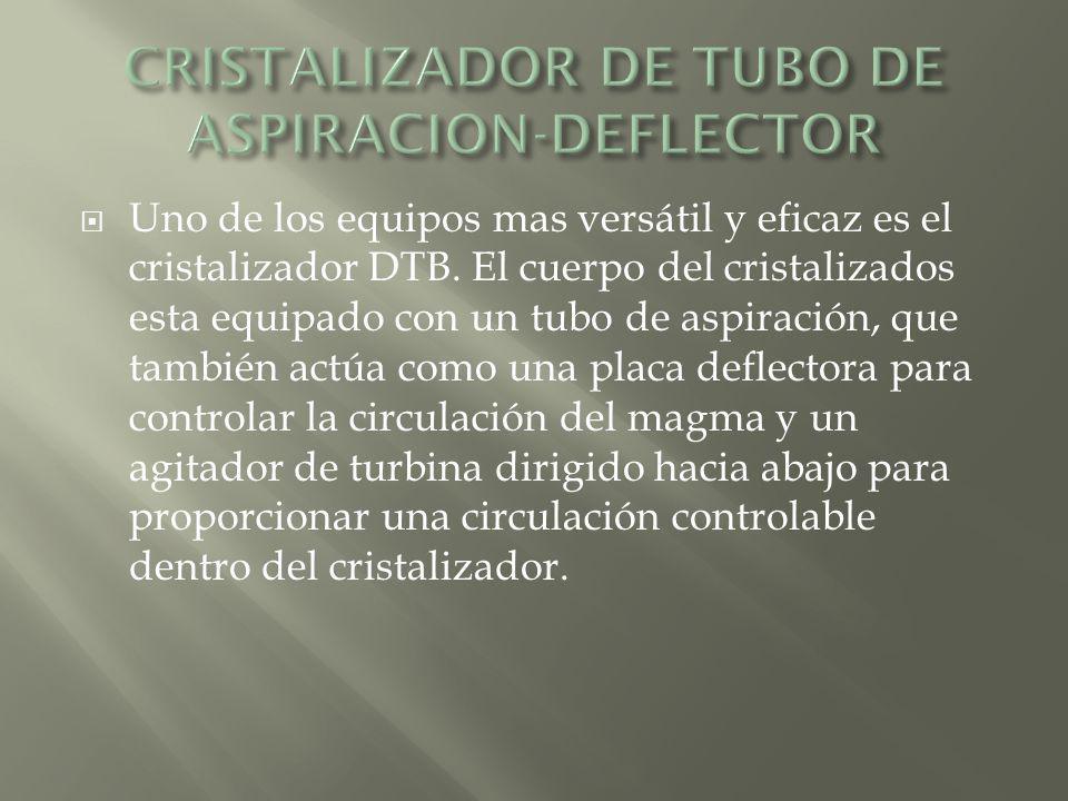 CRISTALIZADOR DE TUBO DE ASPIRACION-DEFLECTOR