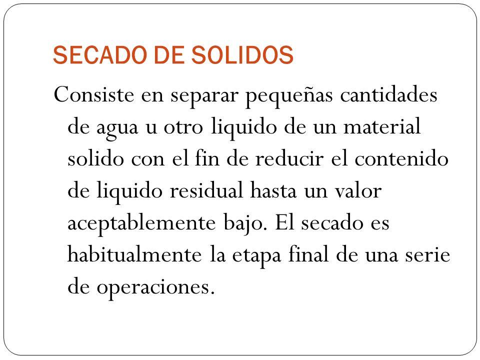 SECADO DE SOLIDOS
