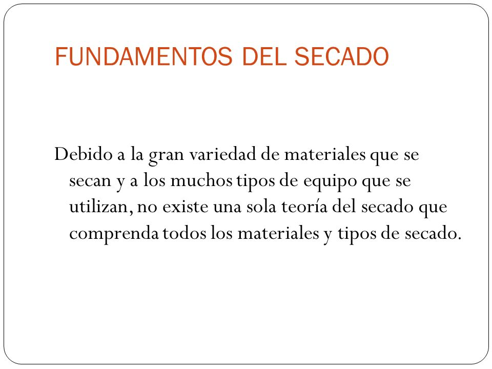 FUNDAMENTOS DEL SECADO