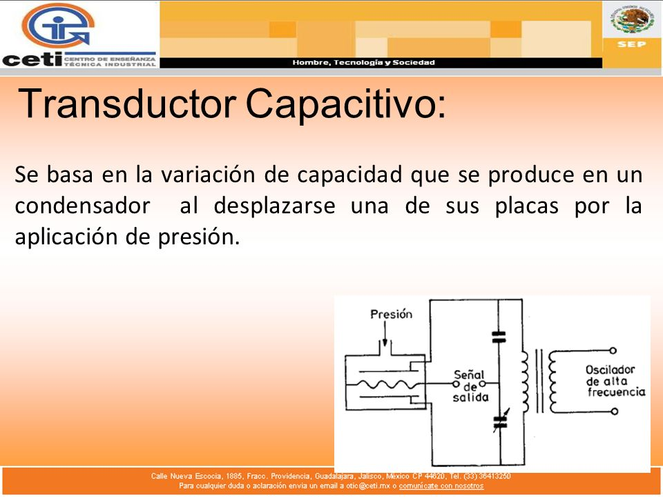 Transductor Capacitivo: