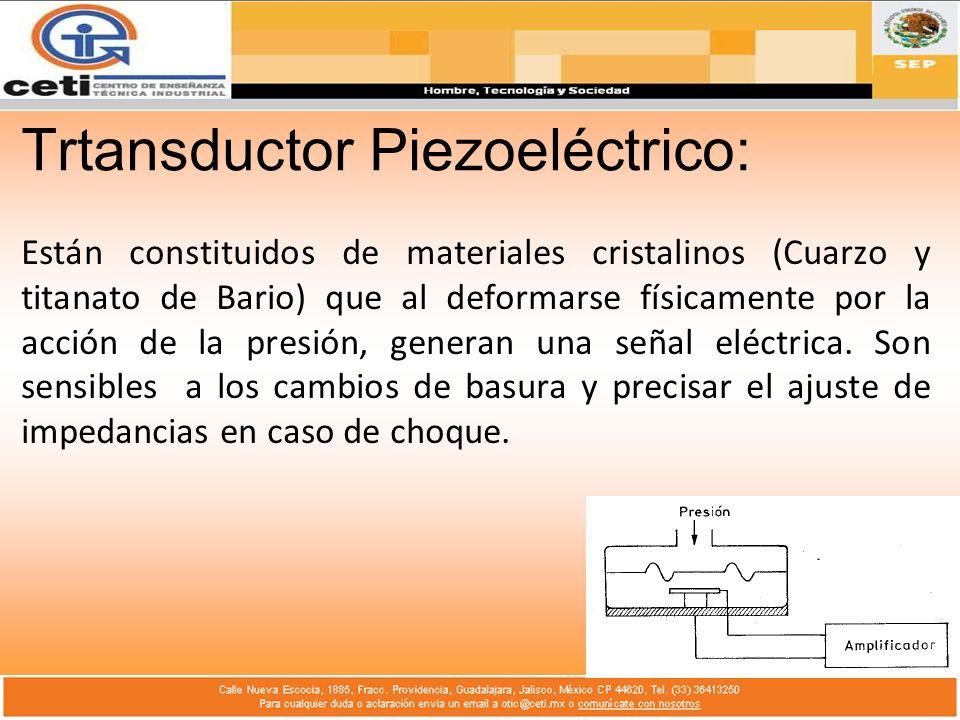 Trtansductor Piezoeléctrico: