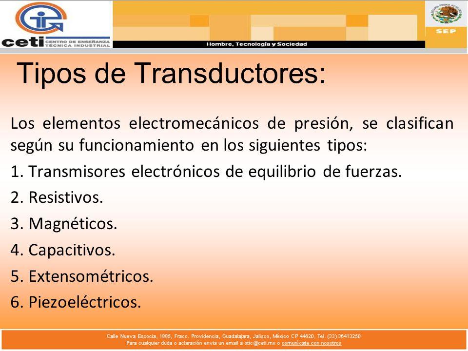Tipos de Transductores:
