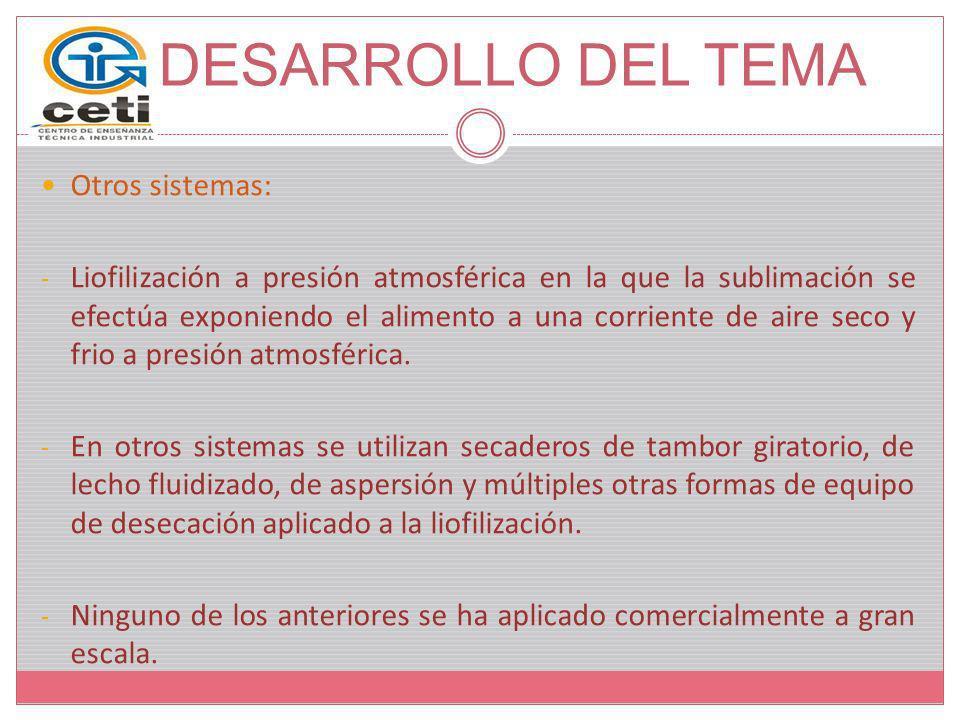 DESARROLLO DEL TEMA Otros sistemas: