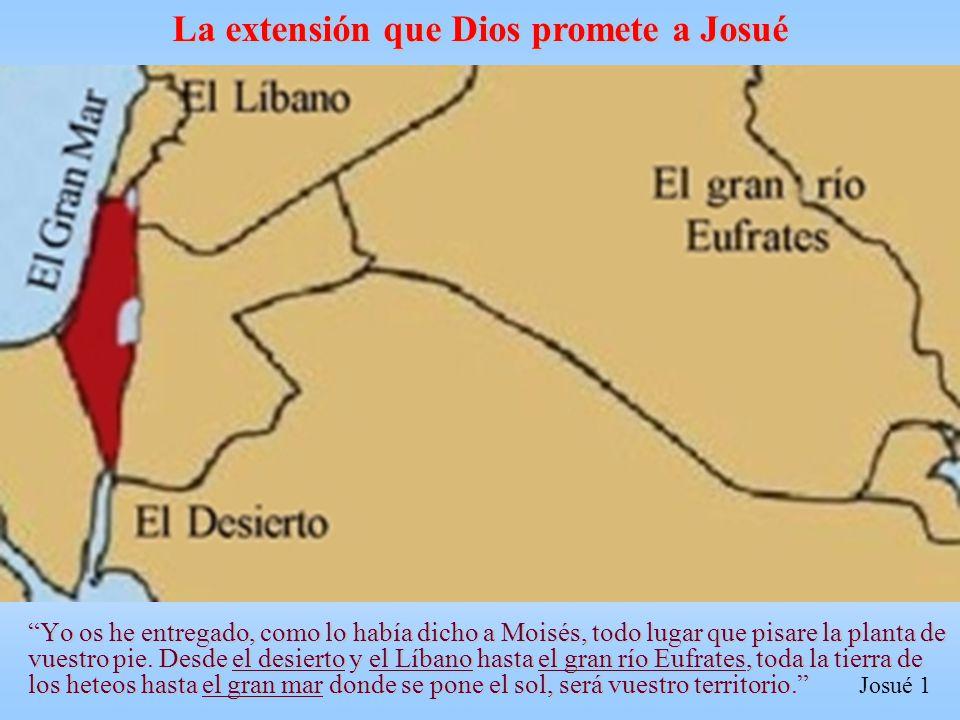 La extensión que Dios promete a Josué