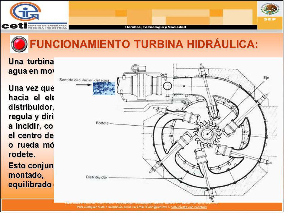 FUNCIONAMIENTO TURBINA HIDRÁULICA: