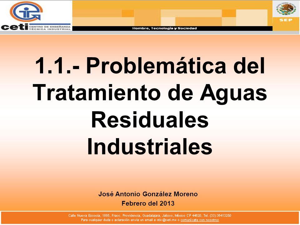 1.1.- Problemática del Tratamiento de Aguas Residuales Industriales