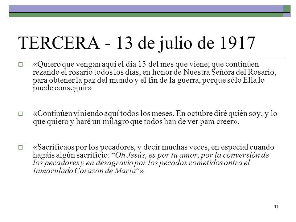 TERCERA - 13 de julio de 1917