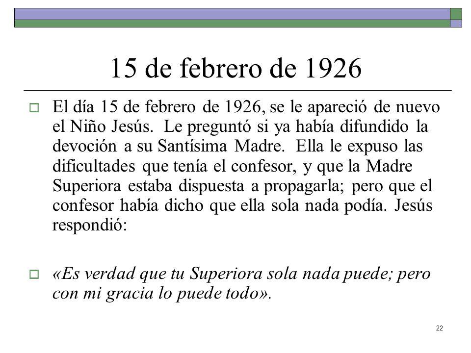 15 de febrero de 1926