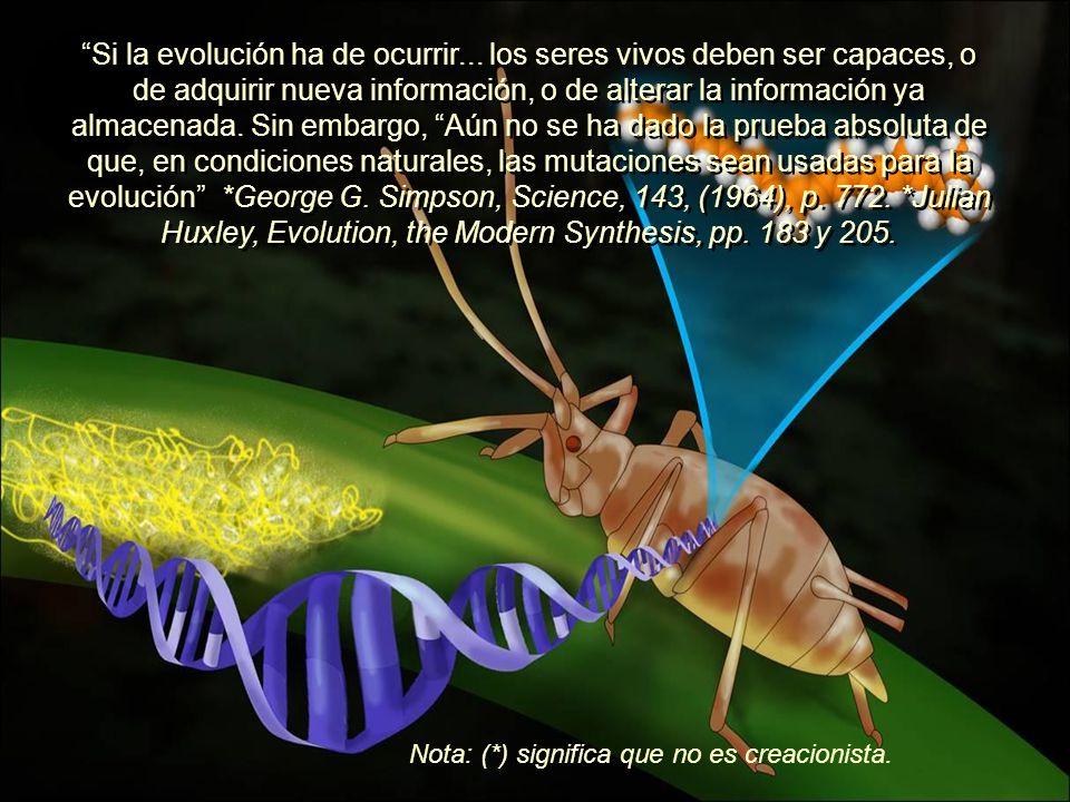 Si la evolución ha de ocurrir