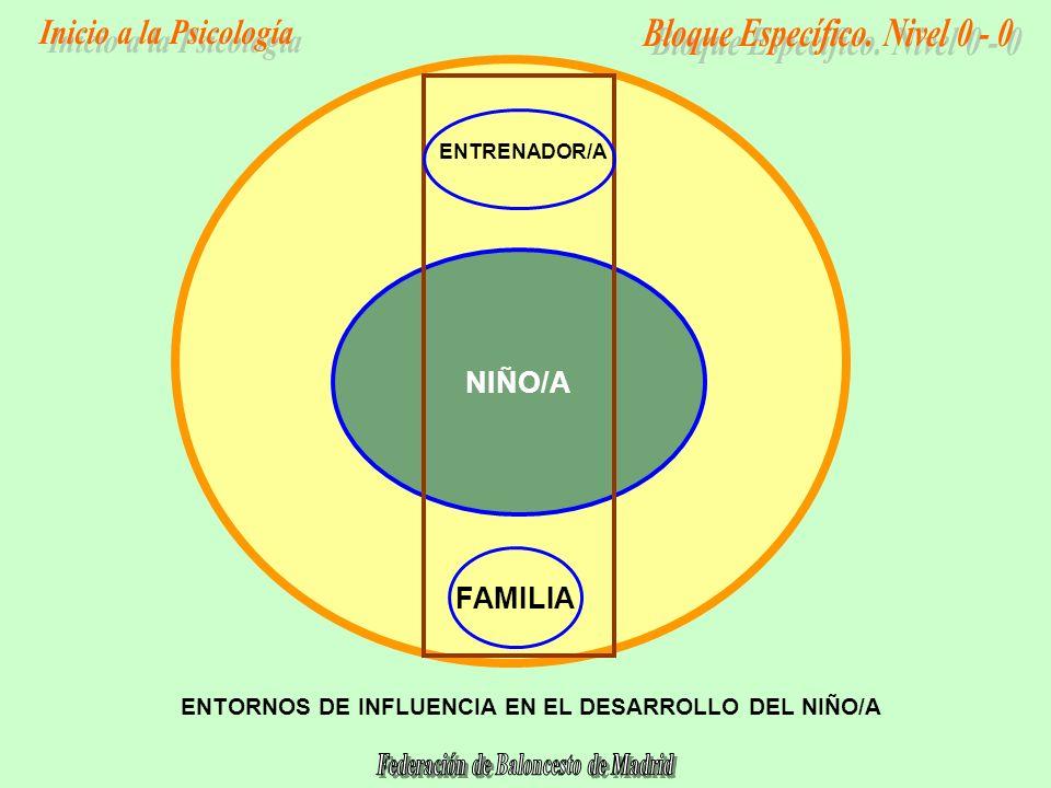 NIÑO/A FAMILIA ENTORNOS DE INFLUENCIA EN EL DESARROLLO DEL NIÑO/A