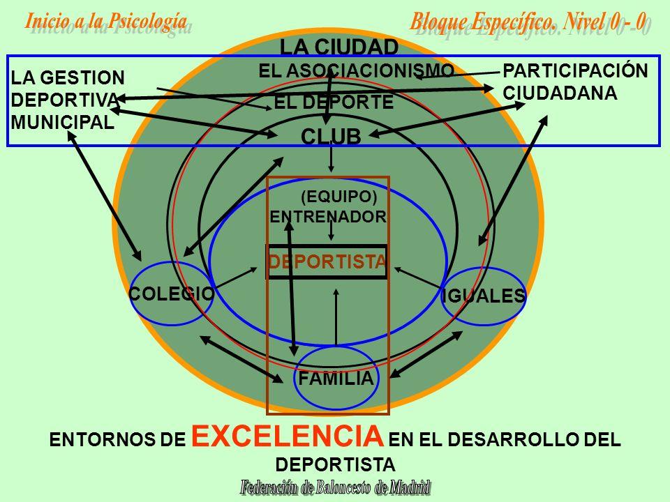 ENTORNOS DE EXCELENCIA EN EL DESARROLLO DEL DEPORTISTA