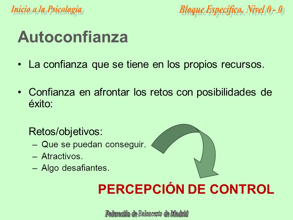 Autoconfianza PERCEPCIÓN DE CONTROL