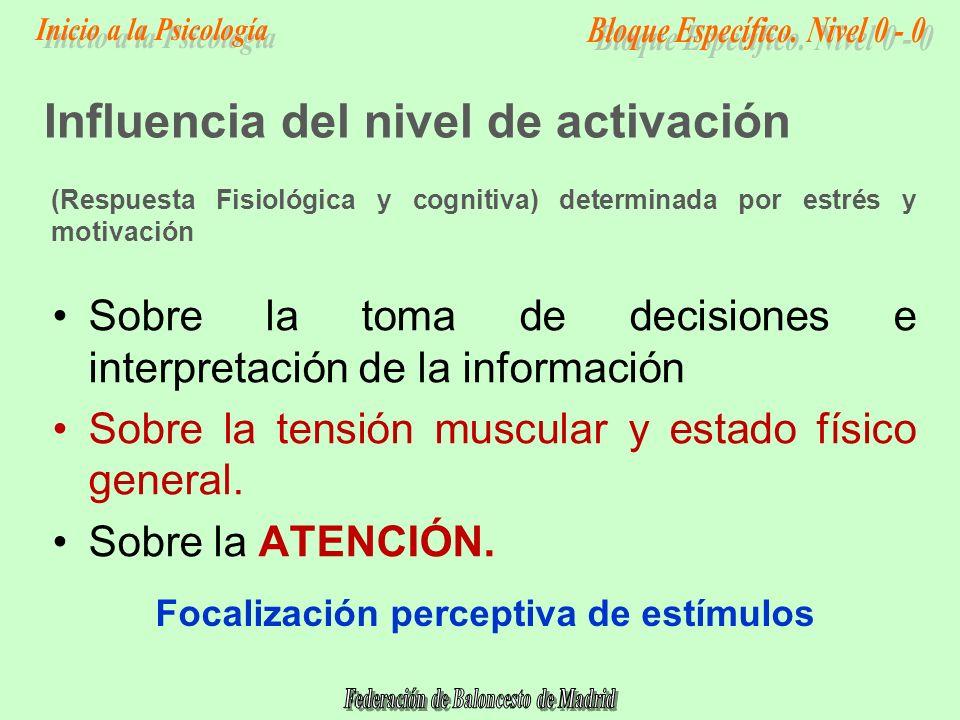 Influencia del nivel de activación