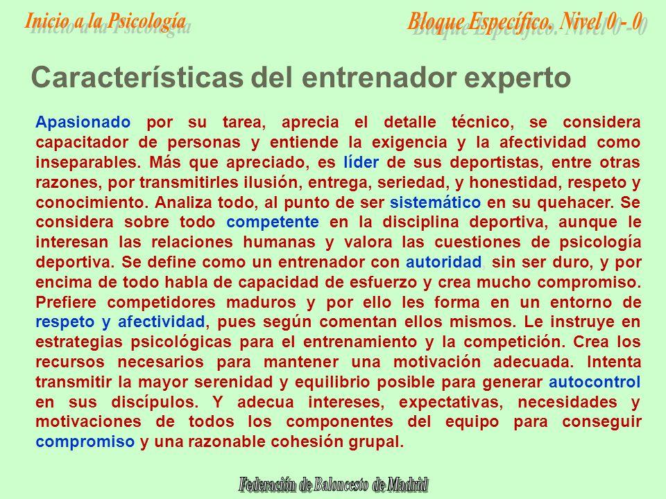 Características del entrenador experto