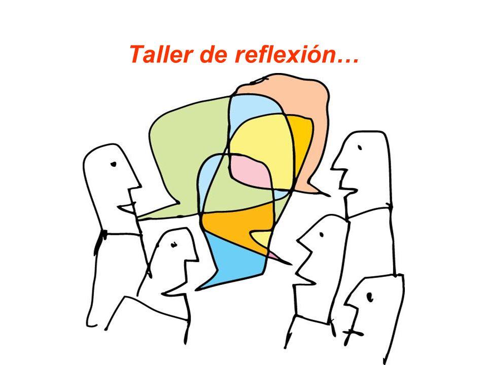 Taller de reflexión…