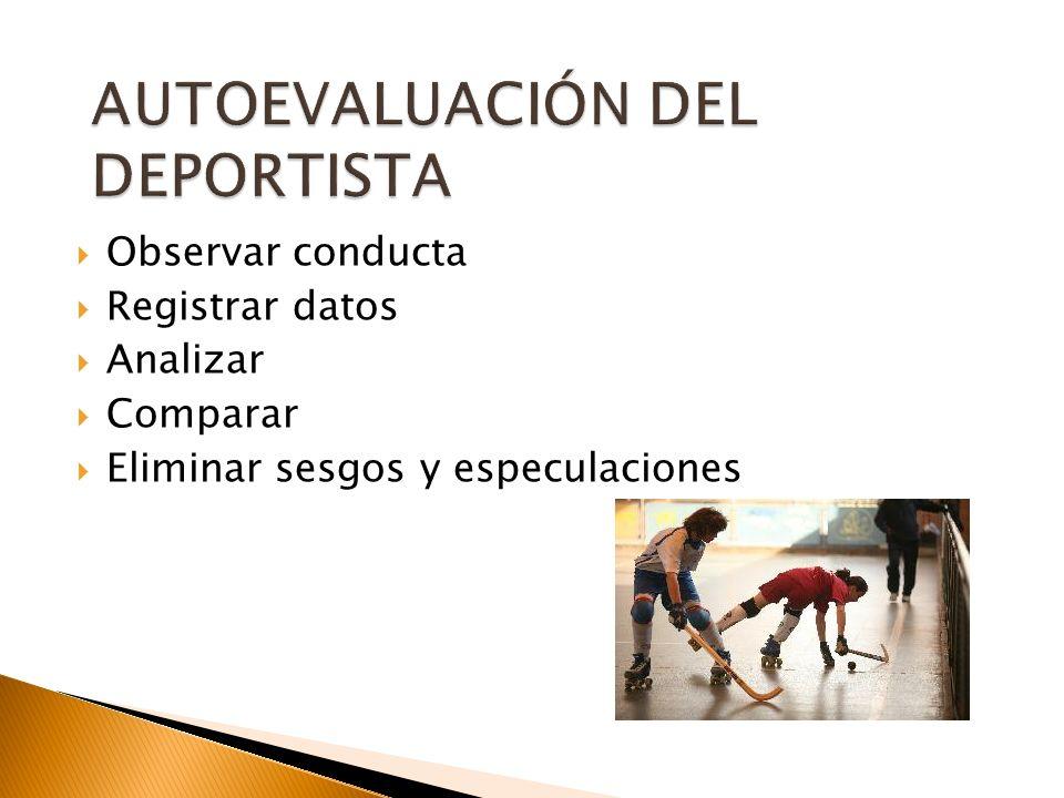 AUTOEVALUACIÓN DEL DEPORTISTA